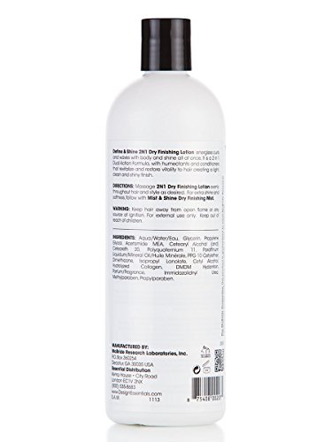 Design Essentials 2 N 1 Dry Finishing Lotion To Restore Define