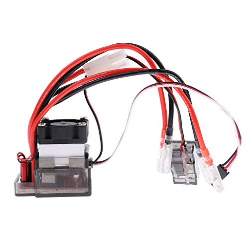 Baoblaze 320A Brushed Waterproof ESC w/Cooling Fan for RC Climbing Truck Model Parts xjXHzSz