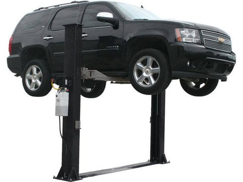 Low 2 Lift Post Ceiling (Elite 9KBP Baseplate 9,000 lb. Capacity Two- Post Lift)