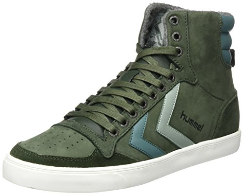 sneakernews online outlet with paypal Hummel Unisex Adults' Slimmer Stadil Duo Oiled High Hi-Top Sneakers Green (Rosin) ciVWw262GJ