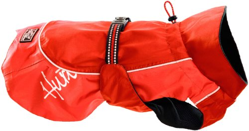 Hurtta Pet Collection Raincoat, 28-Inch Length, 25-29-Inch Neck, 39-43-Inch Chest, Red, My Pet Supplies