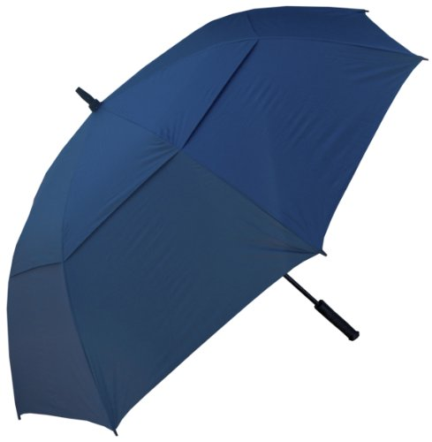 RainStoppers 60-Inch Windbuster Golf Umbrella (Solid Navy) (Jumbo Umbrella)