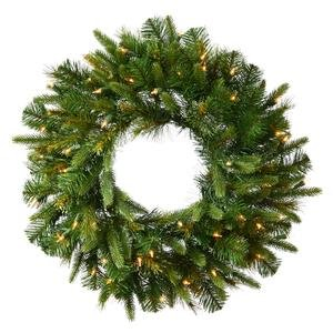 Vickerman 24'' Cashmere Wreath with 50 Warm White LED lights