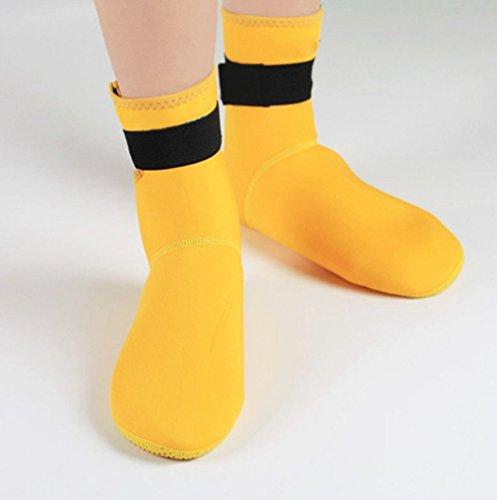 natación Distintos Snorkel Adulto Zapatos de Antideslizante 3 mm de Unisex Botas Amarillo Surf Buceo buceo OOwrTR