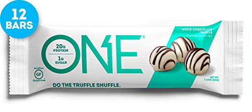 Chocolate Cake Truffle - ONE Protein Bars, White Chocolate Truffle, Gluten Free Protein Bars with 20g Protein and only 1g Sugar, Guilt-Free Snacking for High Protein Diets, 2.12 oz (12 Pack)
