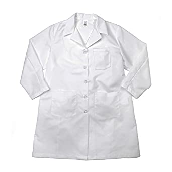 Pinnacle Textile L27F 5.25 OZ POPLIN 80//20 Polyester//Cotton BUTTONS-4X-Large-White Pinnacle Textiles L27F-4XL-WH Female LAB Coat