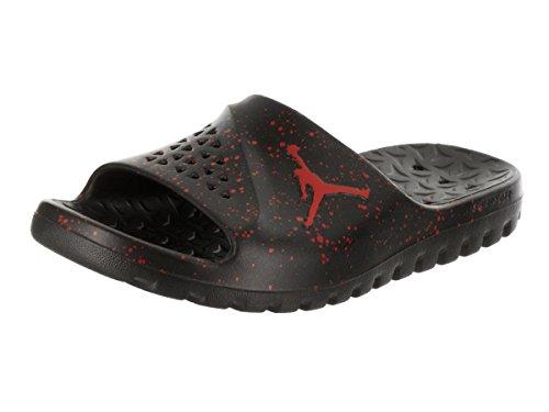 Jordan Nike Men's Super.Fly Team Slide Black/University Red Sandal 11 Men US by NIKE