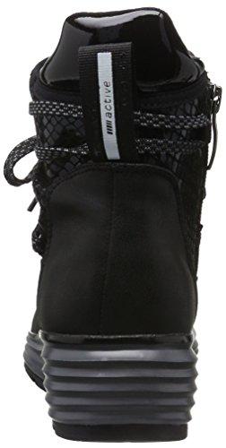 Tamaris 25420, Sneakers Hautes Femme Noir (Black Str.Comb 053)