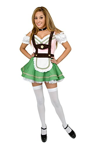 Charades Women's Bavarian Beer Garden Girl Costume, -