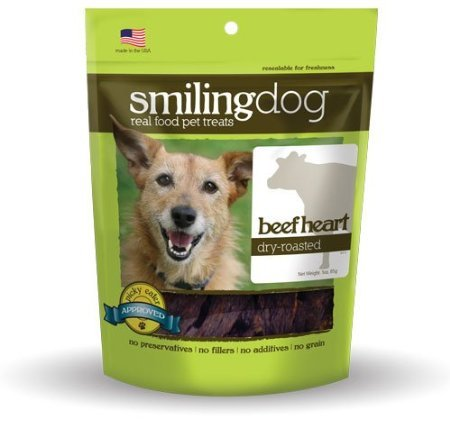 Image of Herbsmith Smiling Dog Treats – Dry Roasted Beef Heart – Gluten + Grain Free – Made In Usa – 3 Ounce