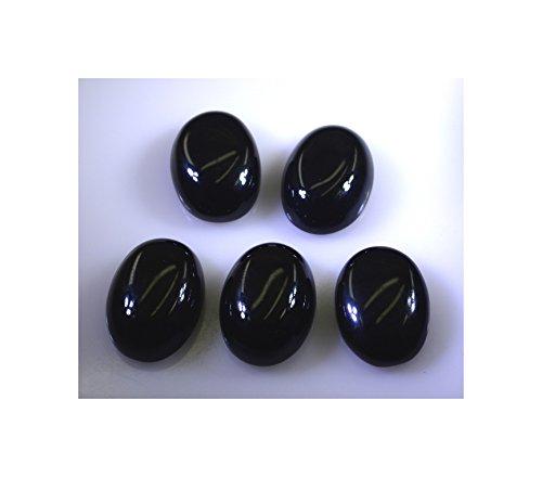 noir onyx pierres précieuses en vrac 1 pièces 13 x 18 mm ovale cabochon pierre noire