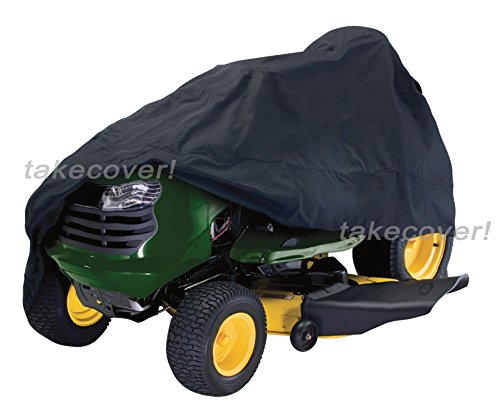 Deluxe Riding Lawn Mower Tractor Cover Fits Decks up to 55'' Black - Water Mildew & UV Resistant Storage Cover by NJIUSA