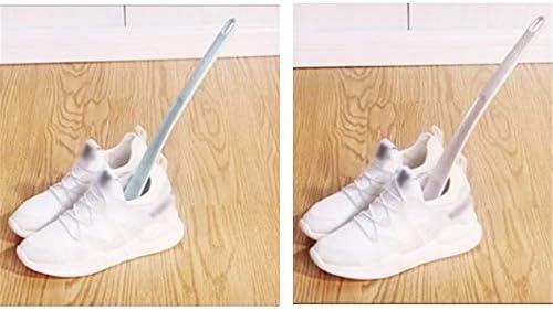 軽量 プラスチック製ロングブーツ靴ホーン軽量靴べらを扱いました 耐用 (Color : Blue, Size : 32cm)