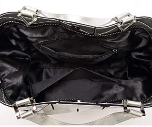 Sac Sac Silver Brillant à NB Diamant Sac Sac Dames à Messenger Vernis Bandoulière XZW Main à Bandoulière Sac 6w10gqffS