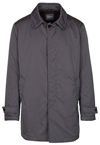 Armani Collezioni Jackets - Armani Collezioni Men's Gray Insulated Water Repellent Trench Coat Jacket, Gray, EU 54 / US XL