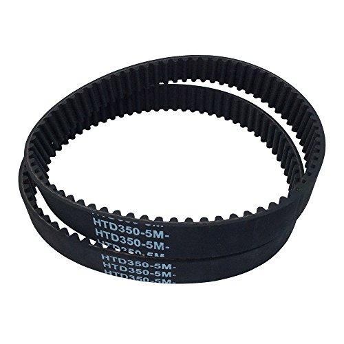 BEMONOC 2Pcs/Pack HTD 5M Rubber Timing Belts Closed-Loop 350mm Length 70 Teeth 15mm Width Industrial Timing Belt
