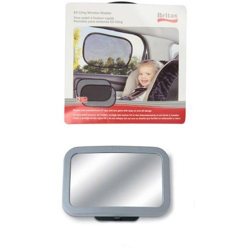 Britax EZ-Cling Sun Shades and Back Seat Mirror Bundle