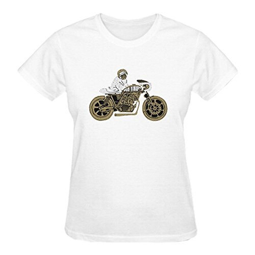 Jstmon Let's Ride Women Tee Shirts Crew Neck (Ladies Tissue Raglan T-shirt)
