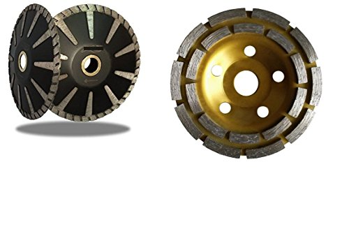 4 Inch 100mm Diamond Grinding Cup Wheel 5 Inch Diamond Contour / Concave / Convex Blade Concrete Sink Stone Granite Quartz - Contour Blade