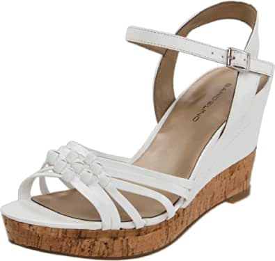 Amazon.com | Bandolino Women's Modavi Wedge Sandal, White