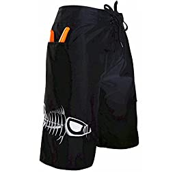 Tormenter Mens Tuna Waterman 5 Pocket Boardshorts 36 Black