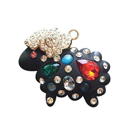 (YJYdada Car Loving Gift Air Outlet Fragrant Perfume Little Sheep Freshener Diffuser (black))