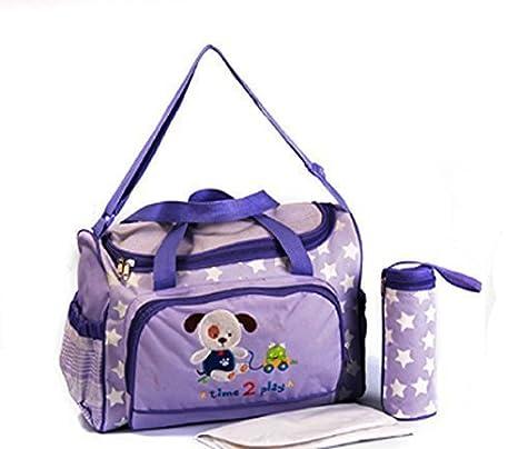 XXL 3 pc Bolsa para bebés Colores lila Bolso Cambiador Pañales Bolsa De Bebé Color Surtido