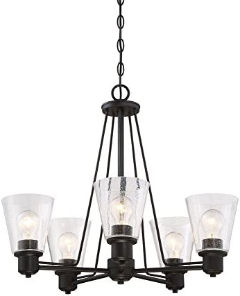 Designers Fountain 88085-ORB Printers Row 5 Light Chandelier