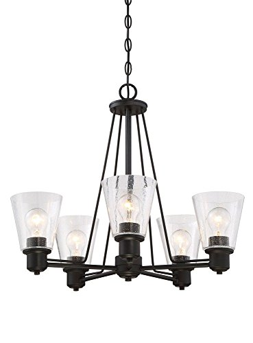 Designers Fountain 88085-ORB Printers Row 5 Light Chandelier, Oil Rubbed Bronze
