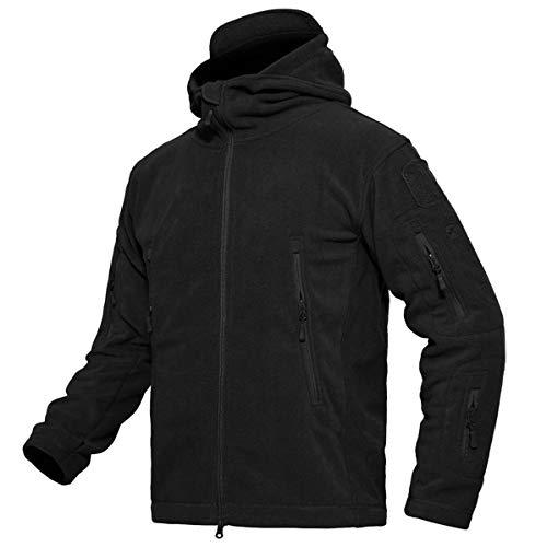 BIYLACLESEN Men's Warm Lightweight Military Tactical Sport Fleece Hoodie Jacket Coat ()
