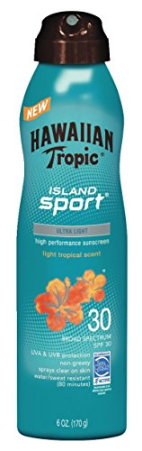Hawaiian Tropic Island Sport Sunscreen Spray, Easy to Apply, Broad-Spectrum Protection, SPF 30, 6 Ounces
