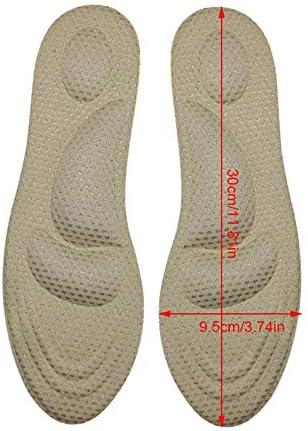4D Schwamm-Einlegesohlen, Umiwe Stützeinlagen für Schuhe Insert Arch Supports Anti-Sweat Komfortable High Heel Inserts entspannen Muskeln, Durchblutung Männer