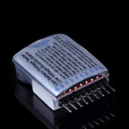 sahnah 1-8S Lipo//Li-Ion//Fe Battery Voltage 2IN1 Tester Low Voltage Buzzer Alarm