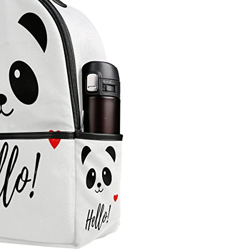 Use4 Hello Panda Love Heart Polyester Backpack School Travel Bag by ALAZA (Image #4)