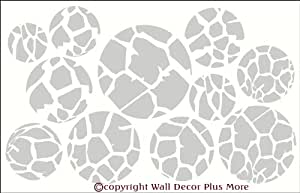 "Wall Decor Plus More Giraffe Print Dots Wall Vinyl Sticker Decal 11 Piece 3"" - 7.5"" - Warm Gray Warm Gray"