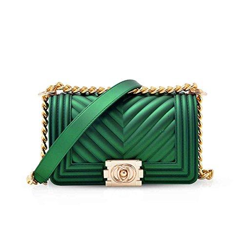Noche amp; con Oro Acolchado Hombro de Correa Mini NICOLE Bolsa de Oscuro Noche de de Verde Cruzado DORIS Embrague de Cadena Elegante Bolso Bolso de BPwqxnPdA