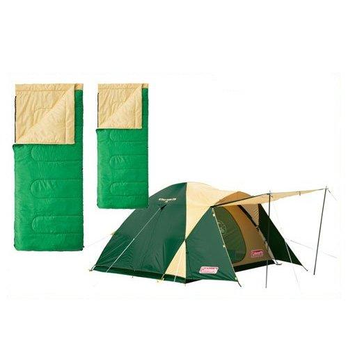 コールマン 3点セット BCクロスドーム パフォーマー グリーン テント 寝袋 Coleman 2000017132 2000027261   B00VHDY2QW