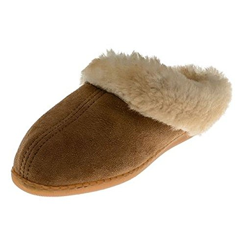 Minnetonka Women's Sheepskin Mule Golden Tan 8 M