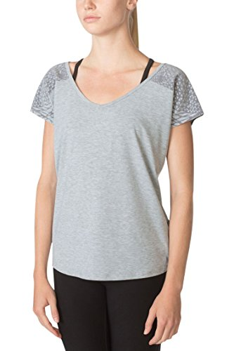 MPG Julianne Hough Women's Melody 2.0 Oversized Tee S Htr Concrete