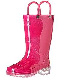 Kids' Waterproof PVC Light-up Rain Boot