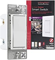 Enbrighten Zigbee Smart Light Switch with QuickFit and SimpleWire, Pairs Directly with Echo 4th Gen/Echo Show