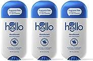 Hello Shea Butter Fragrance Free Deodorant for Women + Men - Aluminum Free, Unscented, No Baking Soda, Paraben