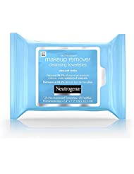 Neutrogena Cleansing Makeup Remover Facial Wipes, Waterproof Mascara Remover Refill Pack, 25 Count