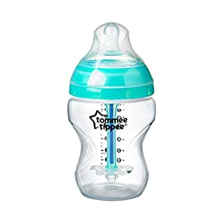 Tommee Tippee Advanced Anti-Colic Baby Bottle, Slow Flow Breast-Like Nipple, Heat-Sensing Technology, BPA-Free - 9 Ounce, 1 Count
