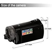 HM HDMI 720p 3.0 TFT LCD Rotation Digital Video Camcorder 16X Zoom Camera DV Video Recorder Max 16.0 Mega Pixels + Safety Tether,Black