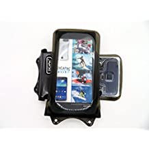 DiCAPac WP-C1 Universal Waterproof Case for Acer Liquid Jade Z / M220 / Z220 in Black (Double Velcro Locking System; IPX8 Certified Underwater Protection; Super Clear Photo Lens)