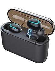 AuKing écouteur Bluetooth, Écouteur sans Fil Oreillette de Sport,IPX6 Bluetooth 5.0 TWS Léger Stéréo Auriculaires avecavec étui de Chargement Portable