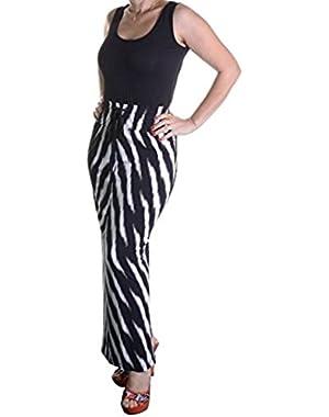 Calvin Klein Women's Jersey Print Maxi Dress, Black Multi, 4