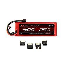 Venom 25C 2S 4100mAh 7.4 Hard Case LiPO Battery with Universal Plug System