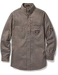 Gray Dress Shirt 7.5 oz Flame Resistant Lightweight GFB750